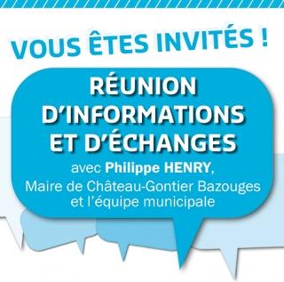 🔊 ECHANGES AVEC LES HABITANTS : 4 RÉUNIONS D'INFORMATION