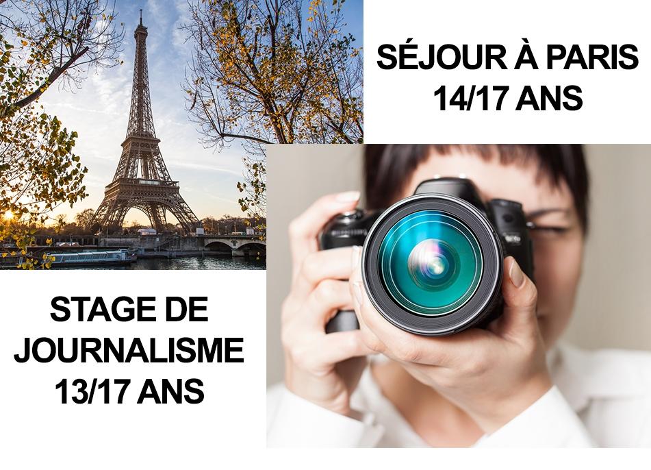 JEUNESSE : STAGE DE JOURNALISME ET SEJOUR A PARIS