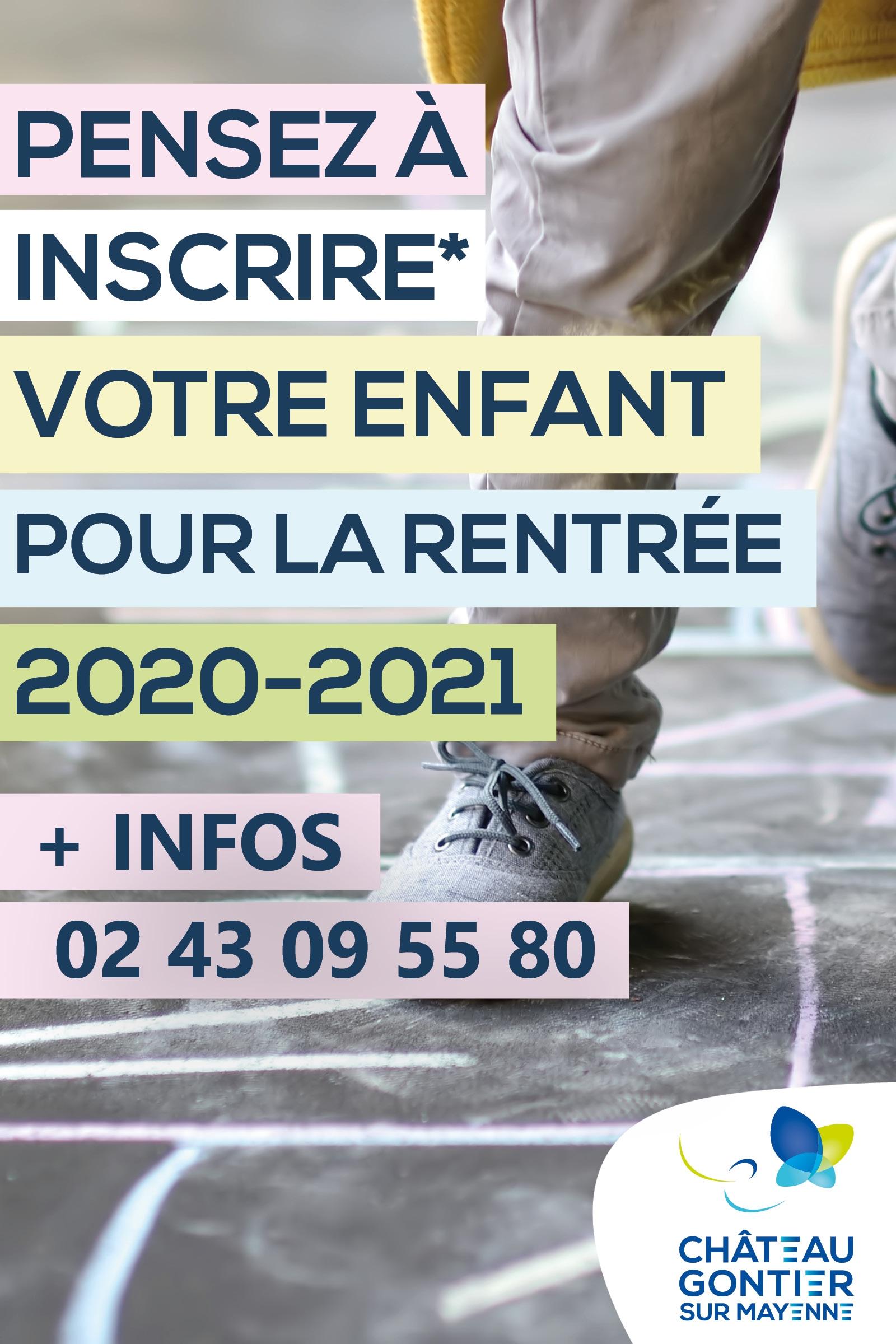 INSCRIPTIONS À L'ÉCOLE